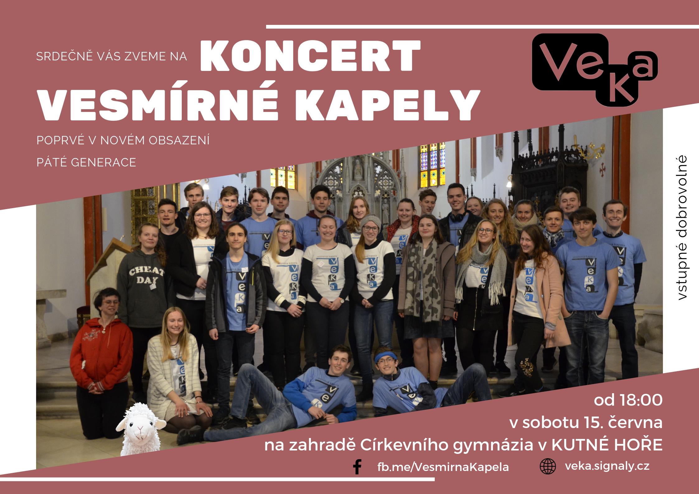Plakát na koncert v Kutné Hoře